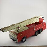 Tonka Swivel Aerial Ladder Fire Truck XR-101 Pressed Steel Vintage Red 1970's