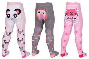 Baby Girls Tick Tock Novelty Animal Prints Tights 3 Designs 45b112