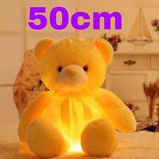 50cm Night Light Big Teddy Bear Love Plush Soft Doll Toys Birthday Gift Pillow A