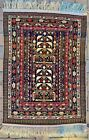 "5' x 3'3"" Antique Shirvan Style Carpet Caucasian Rug Kazak Handmade Oriental Rug"