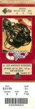 Ticket Baseball Arizona Diamondbacks 2003 - 7/26 - Los Angeles Dodgers