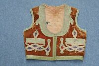 ANTIQUE OTTOMAN TURKISH GOLD METALLIC THREAD EMBROIDERY EMBROIDERED YELEK VEST