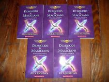 NEW Lot of 5 DEMIGODS & MAGICIANS Rick Riordan GUIDED READING Lit Circle Books
