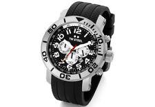 TW Steel TW73 Men's Grandeur Diver Chronogtraph 48mm Black Dial Rubber Watch
