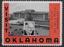 "USA Cinderella:1930s  Visit Oklahoma: ""State Capitol, OKLAHOMA CITY""- dw7t"