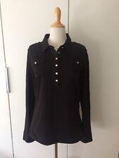 Shirt Polo Tommy Hilfiger Gr. XXL 44 46 Schwarz Langarm Poloshirt