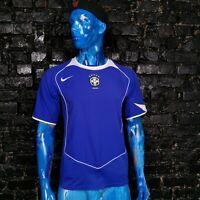 Brazil Brasil Team Jersey Away shirt 2004 - 2006 Blue Nike Trikot Mens Size M