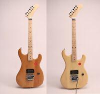 DIY Unfinished 5150 Electric Guitar Alder/Basswood Body Canada Maple Neck FR