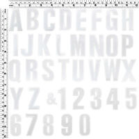 """#282IR White Number Letter Alphabet A -Z Sew Iron on Patch Applique Badge 2""""Tall"""