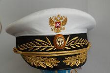 Größe 59 NEUE russische VMF MARINE Uniform Militär Schirmmütze Admiral