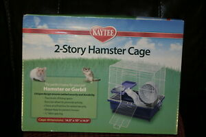 """Kaytee Super Pet- Container-My First Home Hamster or Gerbil 2-story Cage 14x10"""""""