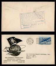 CERTIFIED FLOWN 1945 -  FIRST FLIGHT PHILADELPHIA - LONDON by AMERICAN AIRLINES