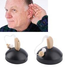 2X Rechargeable Hearing Aids Sound Voice Amplifier Behind The Ear EU Plug OSJP