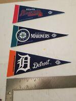 """Lot Of 25 9"""" Baseball Pennants"""