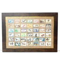 Magnificent Vtg Superior Plaque Print 35 USA Duck Hunting Migratory Bird Stamps