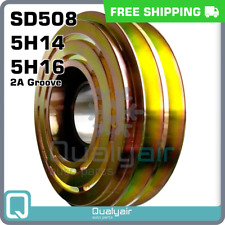 New A/C 132mm Sanden Pulley for SD508/5H14/5H16 2A Groove Compressor - CM133013