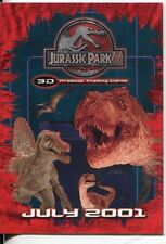 Jurassic Park III 3D Promo Card JP3D-1