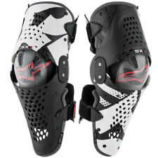 ALPINESTARS SX1 KNEE GUARDS BLACK WHITE RED HINGED MOTOCROSS MX ENDURO BRACES