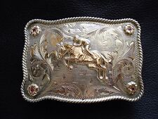 VOGT Horse Rider Sterling Silver, Gold with Ruby Belt Buckle