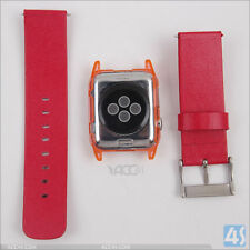 Plastic Case and Replacement PU Strap for Apple Watch 38mm