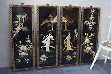 Stunning Large Oriental Shibayama Panels Antique Vintage