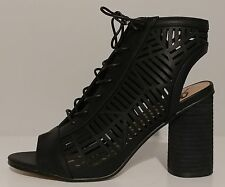 62194f013 Womens Sam Edelman Black PEEP Toe BOOTIES 3.5