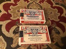 2 Sealed Budweiser Card Decks