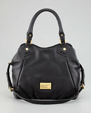 NWT MARC by MARC JACOBS Classic Q Small Fran Leather Bag Tote BLACK $448+ AUTH