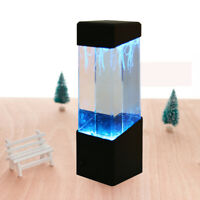 Jellyfish Aquarium Multi Colored Lighting Fish Tank Mood Lamp LED Night Light US