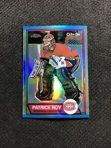 2002-03 TOPPS CHROME PATRICK ROY '89-90 O-PEE-CHEE OPC REPRINT REFRACTOR #18