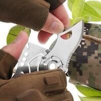 Mini Multi Tool Kreditkartenformat Funktionsset Survival Camping Klettern H2E2