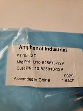 New Amphenol Industrial 97-18-12P 6 Prong Connector, Lot of 6
