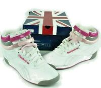 Reebok RB 806 Hi Top Women's Sneakers Shoes Walking Pink White Gray size 6.5