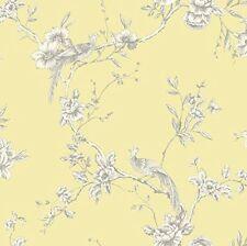 Arthouse Chinoise Yellow White Floral Birds Opera Wallpaper 422804