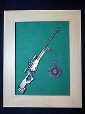 Framed Royal Marines 1/6 scale Sniper Rifle