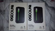 NEW / SEALED - Incase Portable Power 2500 USB Charger - Black / Green - EC20063