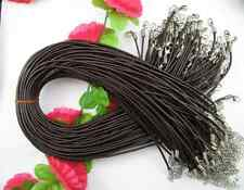 FREE SHIP 2.5MM 10Pcs Real coffee Leather Necklace Cord 45CM SH916