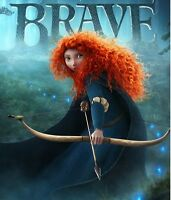Women Long Orange Curly Cosplay Disney Pixar Brave Princess Merida Hair Full Wig