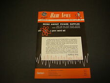 GE Electronic Tube Ham News, Mar-Apr 1954, Two 250 MA Plate Power Supplies S2917