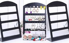 Jewelry Retail Display Black Plastic 24 Pair Earrings Display Rack Stand Holder