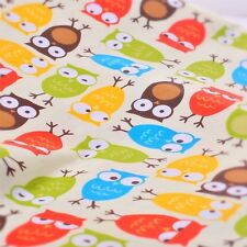Print fabric owl party pattern 100% cotton 112 cm(44 inch) wide per meter