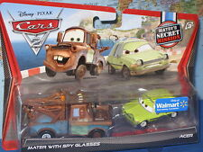 DISNEY PIXAR CARS 2 MATER with SPY GLASSES & ACER 2 PACK ***BRAND NEW & RARE***