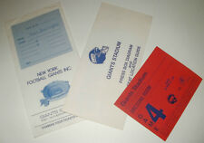 1985 NEW YORK GIANTS VS WASHINGTON REDSKINS PRESS PACK & DRESSING ROOM PASS NY
