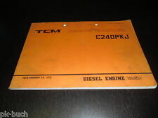 Ersatzteilkatalog Parts Manual Gabelstapler Forklift TCM Isuzu Diesel Engine!