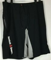 Mens Reebok Crossfit Board Shorts Medium Polyester Blend Stretch Zipped Pocket