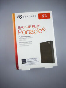 Seagate 5TB Backup Plus Portable USB 3.0 External Hard Drive STKC5000400 New