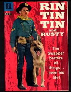 RIN TIN TIN and RUSTY DELL WESTERN COMIC BOOK #27  VF/NM (1958)