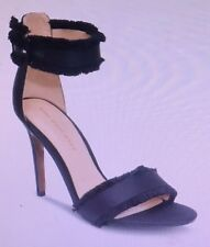 NEW Womens Corin Ankle Strap 3.8-inch Stiletto Heel Who What Wear Black Size 8.5