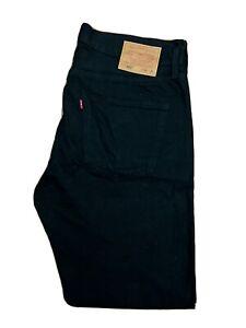 Original Premium Levi's Lot 501® Classic Black Denim Jeans W36 L32 ES 8290