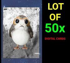* DIGITAL CARDS * Topps Star Wars Card Trader - Hoarders Lot of 50 Porg TLJ Meld
